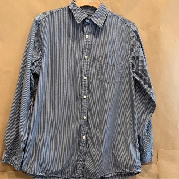 Wrangler Men's M railroad stripe dress shirt